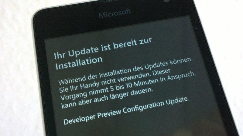 developer-preview-configuration-update