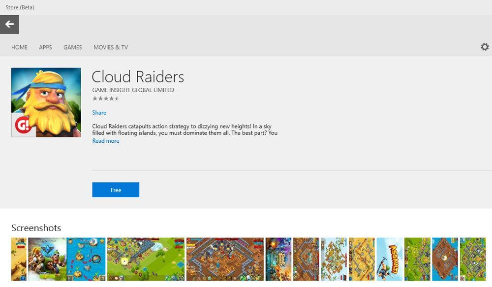 Microsoft schaltet Filme und Serien-Bereich im neuen Windows Store frei