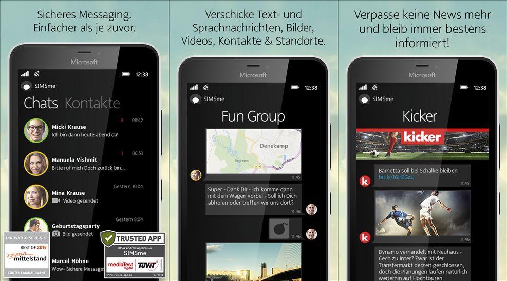 Deutsche Post stellt den Messenger SIMSme für Windows Phones ein