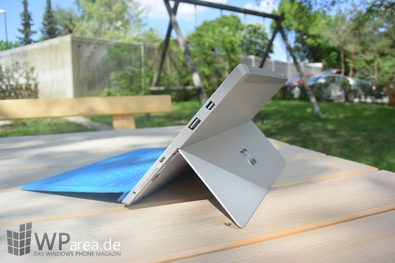 Surface 3 Review Seite Rückseite Kickstand Tastatur