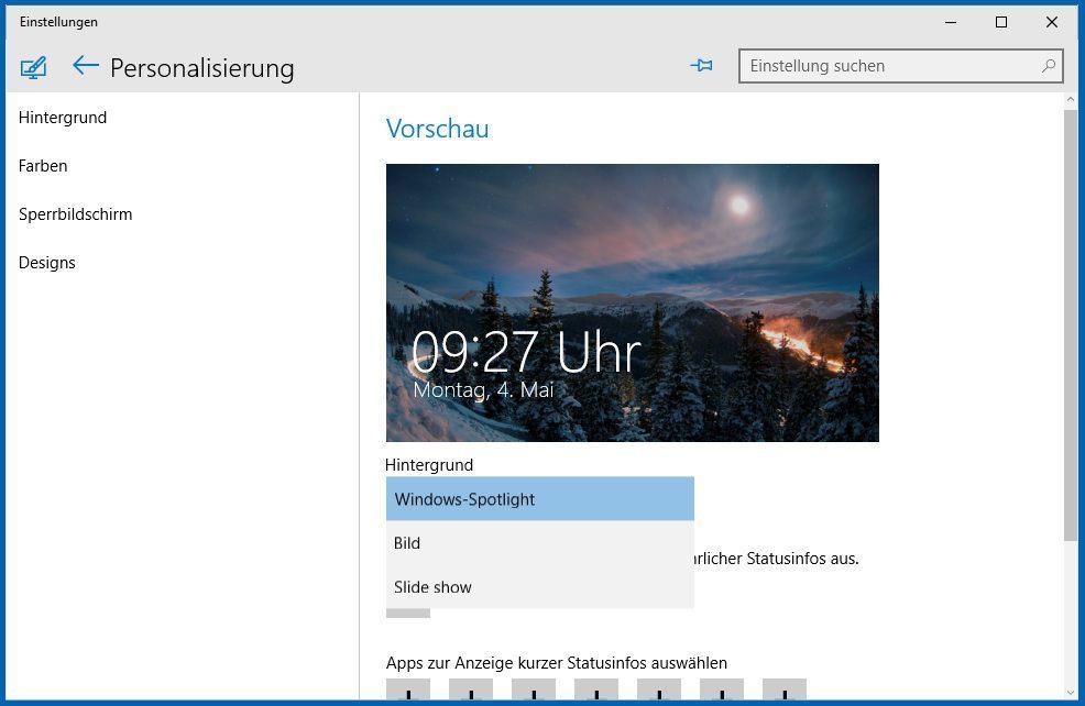anzeige fotos windows 10