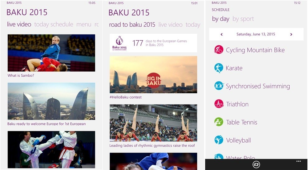 Baku 2015 App
