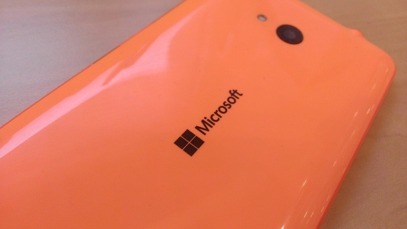 Microsoft Lumia 640 Rückseite orange