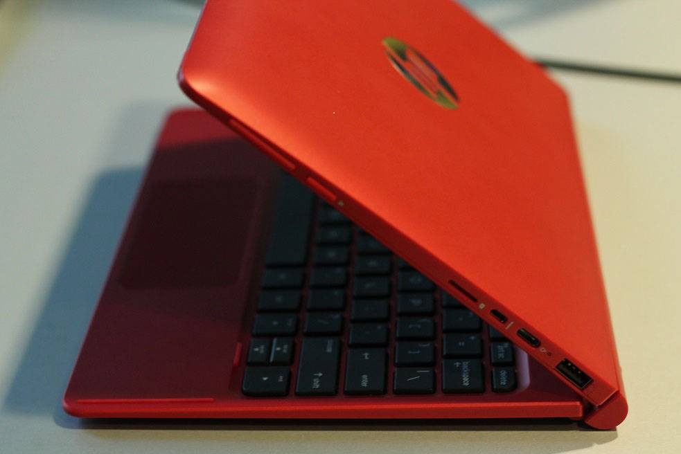 HP Pavilion x2 2015 Hands-On rot seite