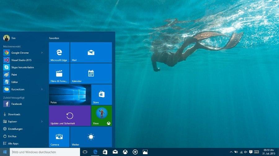 Windows 10 Start-Titelbild