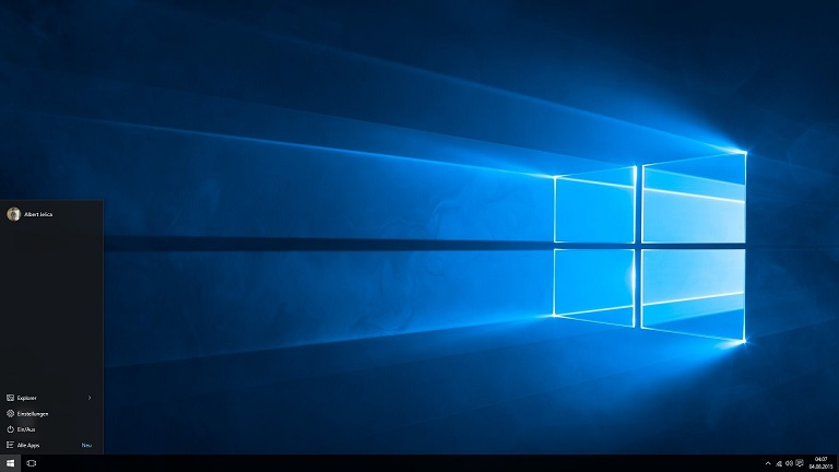 Windows 10 Startmenü ohne Live Tiles