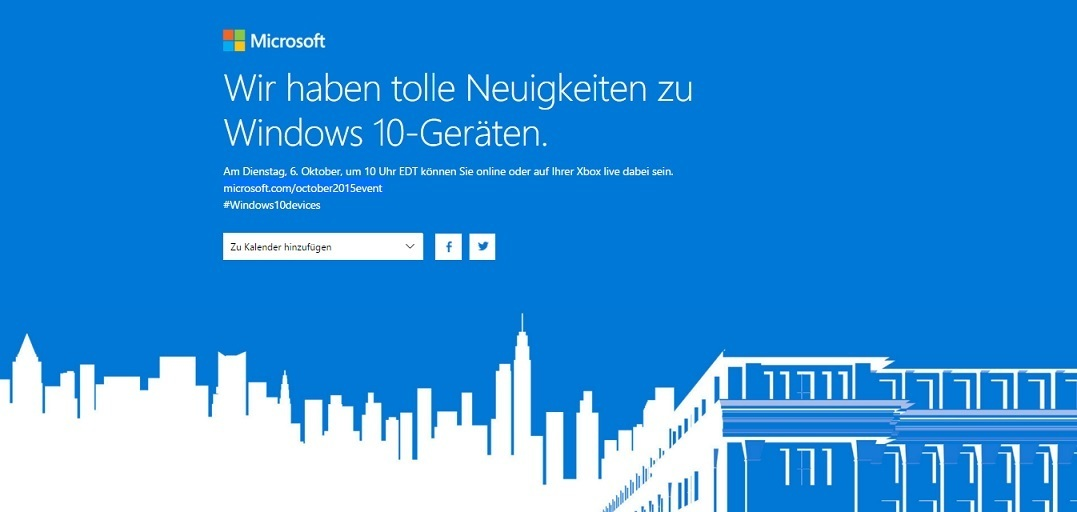 Microsoft Event Live Stream Ankündigung Surface Pro 4 Lumia 950 XL Microsoft Band 2 Keynote