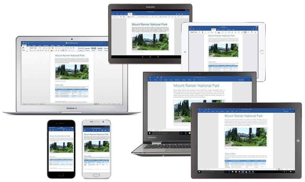 Microsoft Office 2016 header