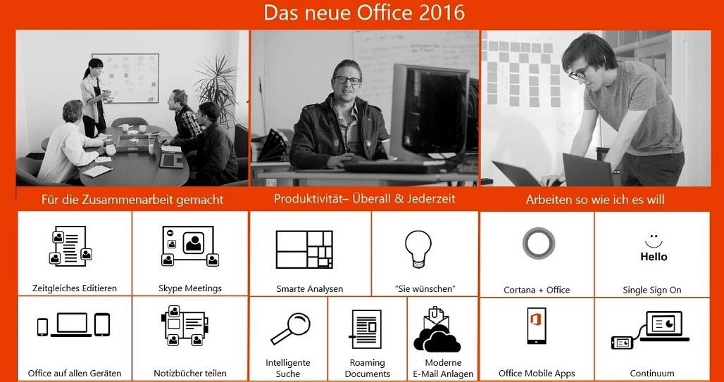 Neue Office 2016
