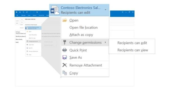 Office 2016 Outlook change permission