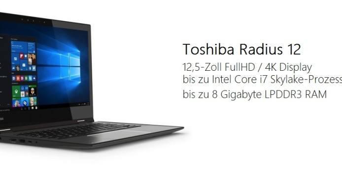Toshiba zeigt neues Convertible mit 4K-Display auf der IFA