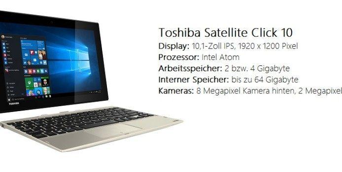 Toshiba präsentiert Satellite Click 10-Tablet auf der IFA 2015