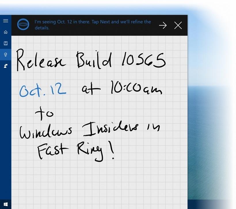 Cortana Notizen