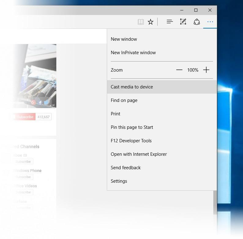 Microsoft Edge screencast