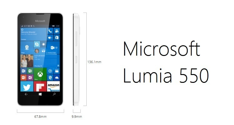 Microsoft Lumia 550 Maße