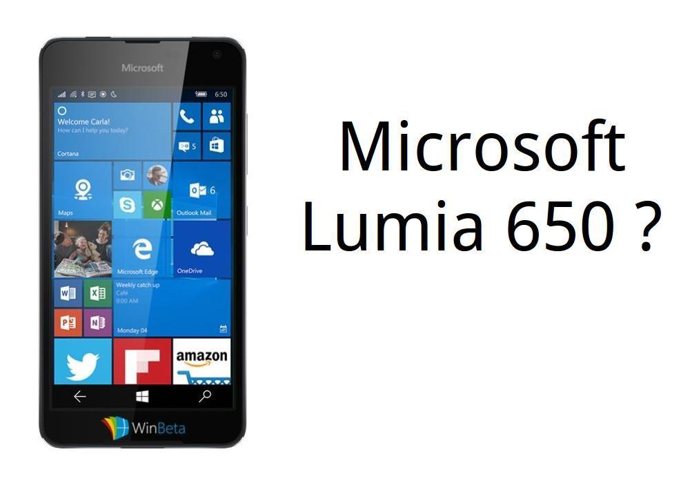 Microsoft Lumia 650 Saana Leak