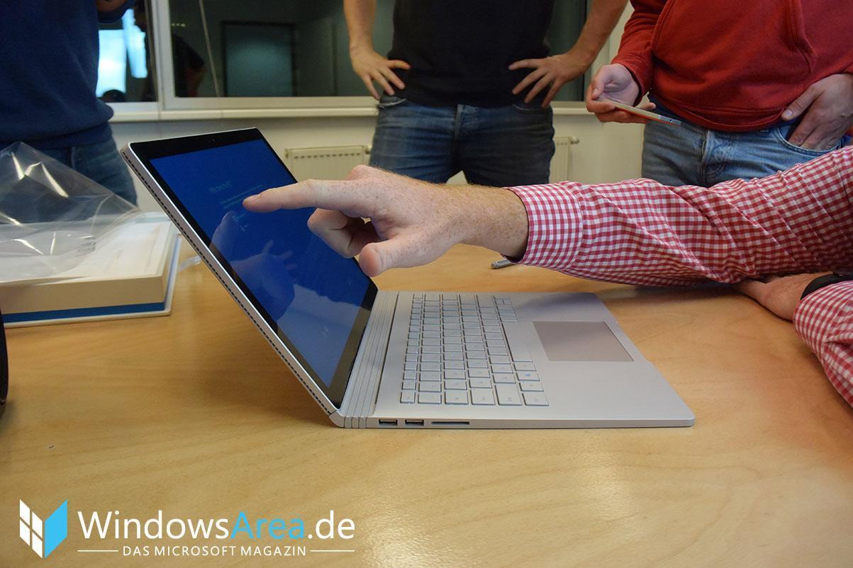 Microsoft Surface Book Seite verwendung