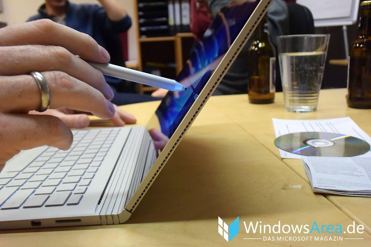 Microsoft Surface Book seite surface pen stylus