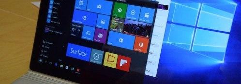 Microsoft Surface Book startmenü windows 10 farben