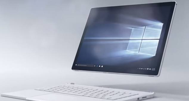Microsoft Surface Book tablet