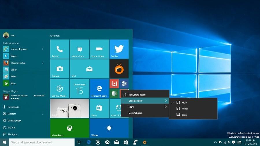 ISOs der Windows 10 Insider Preview Build 10565 verfügbar