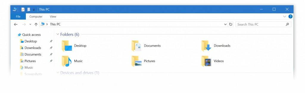 Windows 10 blaue Titelleiste