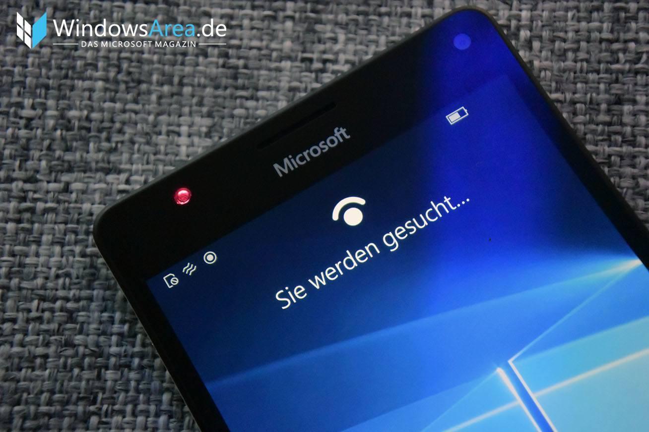 Microsoft Lumia 950 Irisscanner Windows Hello Infrarot