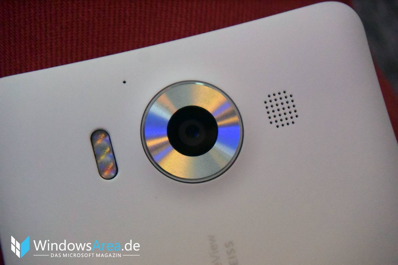 Microsoft Lumia 950 weiß kamera ring metall