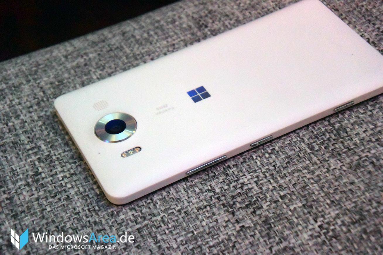 Microsoft Lumia 950 weiß rückseite