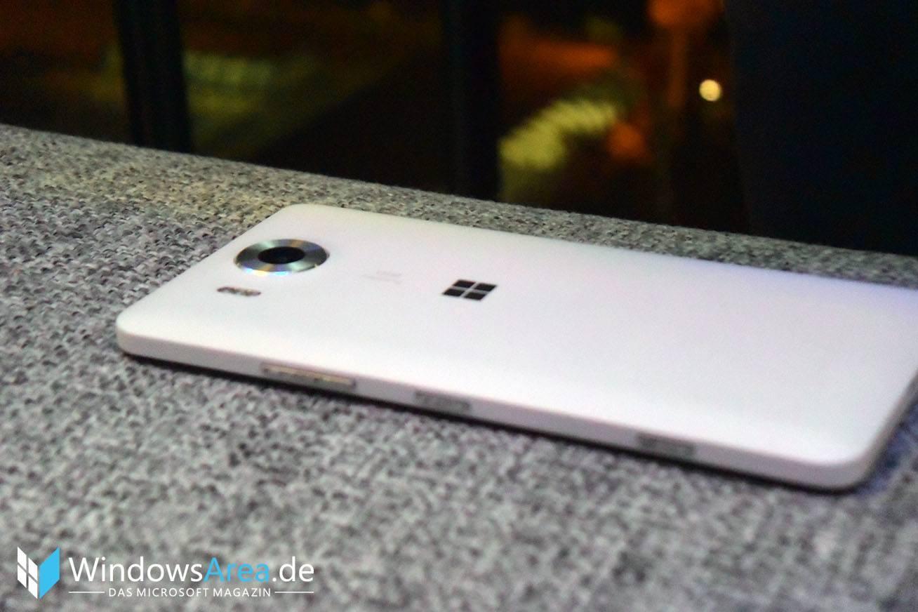 Microsoft Lumia 950 weiß seite