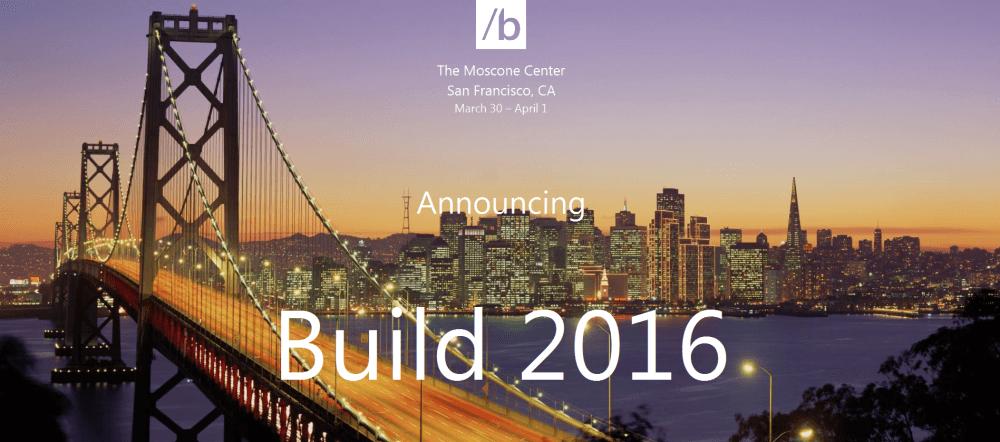 Build 2016_Announcement