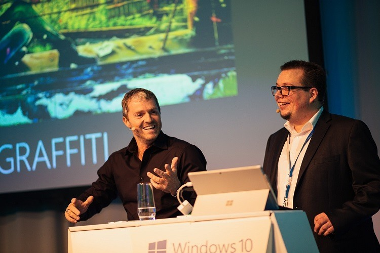Microsoft Expo Fotos Mario Pampel Andi Leitgeb und Manfred Baumann