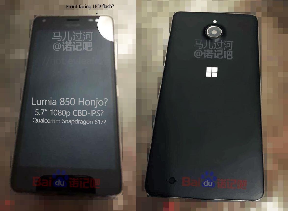 Microsoft Lumia 830 China Leak Honjo