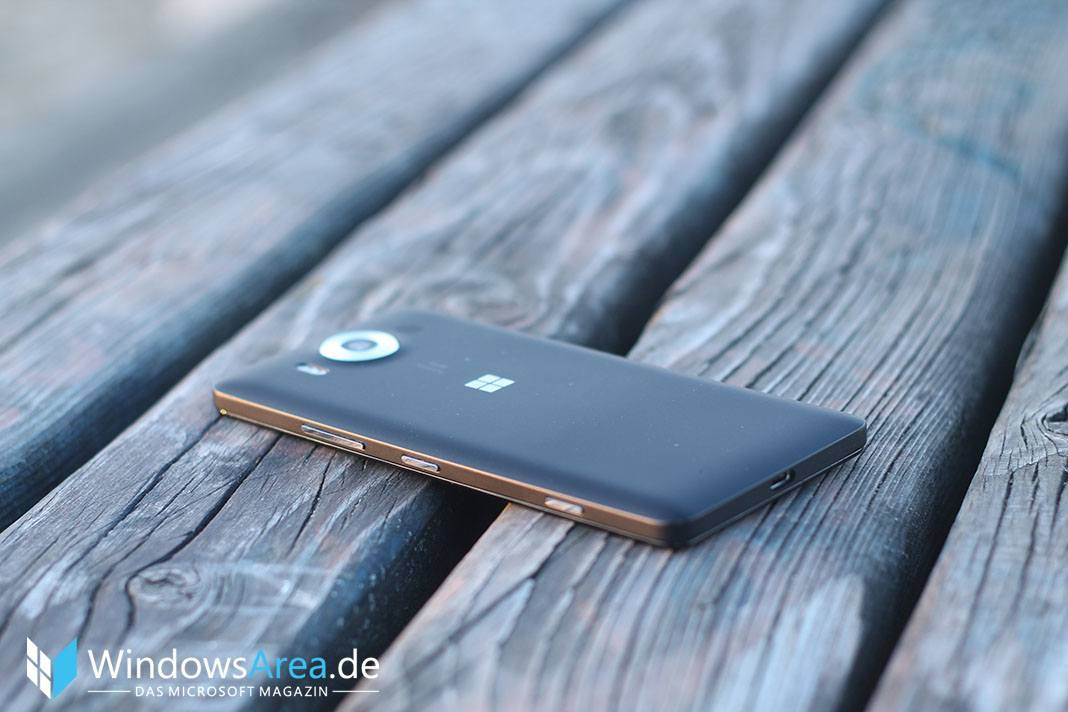 Microsoft Lumia 950 Review Rückseite Seite usb c port