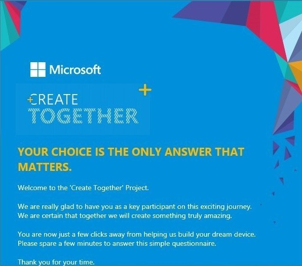 Microsoft Create Together Projekt