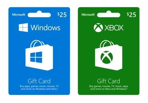 Microsoft Windows Xbox Geschenkkarte Gutscheinkarte Gift Card