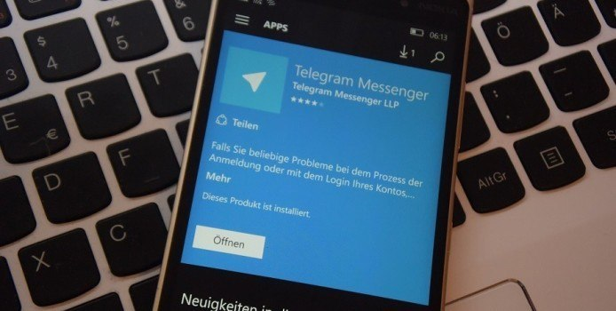 Telegram Preview für Windows Phone kopiert Snapchat-Feature