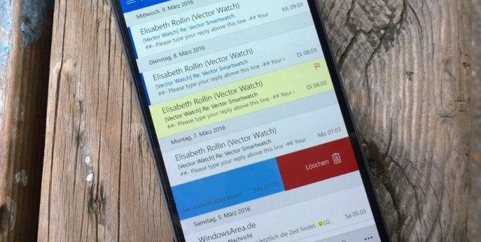 Outlook Mail im Fast Ring bekommt interaktive Benachrichtigungen