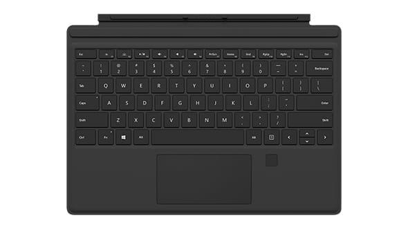 Microsoft Surface Type Cover 4 Windows Hello Fingerabdrucksensor