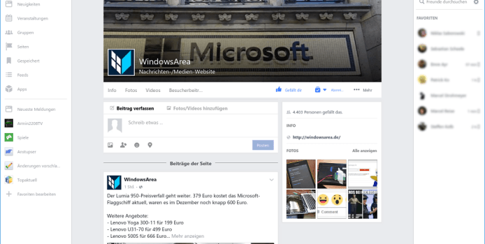 Facebook für Windows 10 bringt Halloween-Stimmung