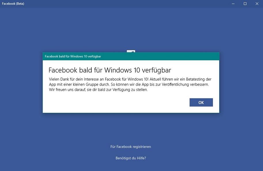 Facebook Für Windows 10