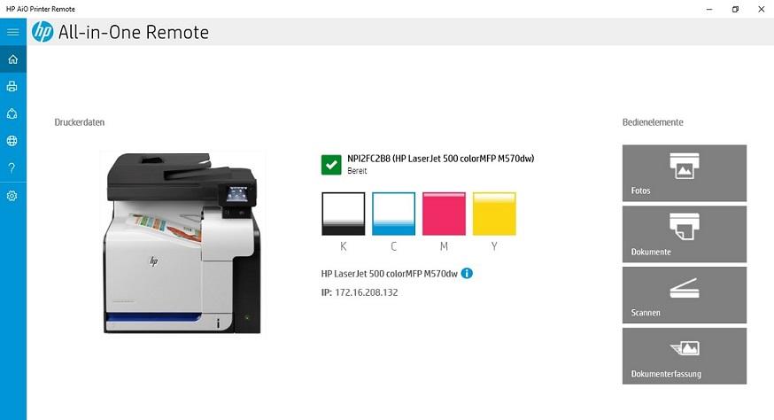 Hp aio printer remote windows 10