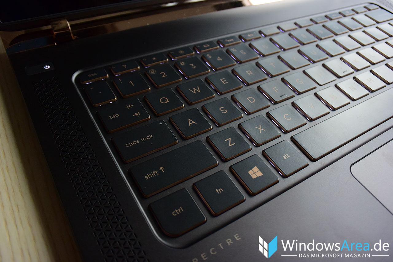 HP Spectre 13 Hands-On Erster Eindruck Tastatur