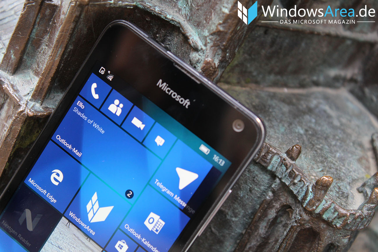 Microsoft Lumia 950 im Test Logo oben