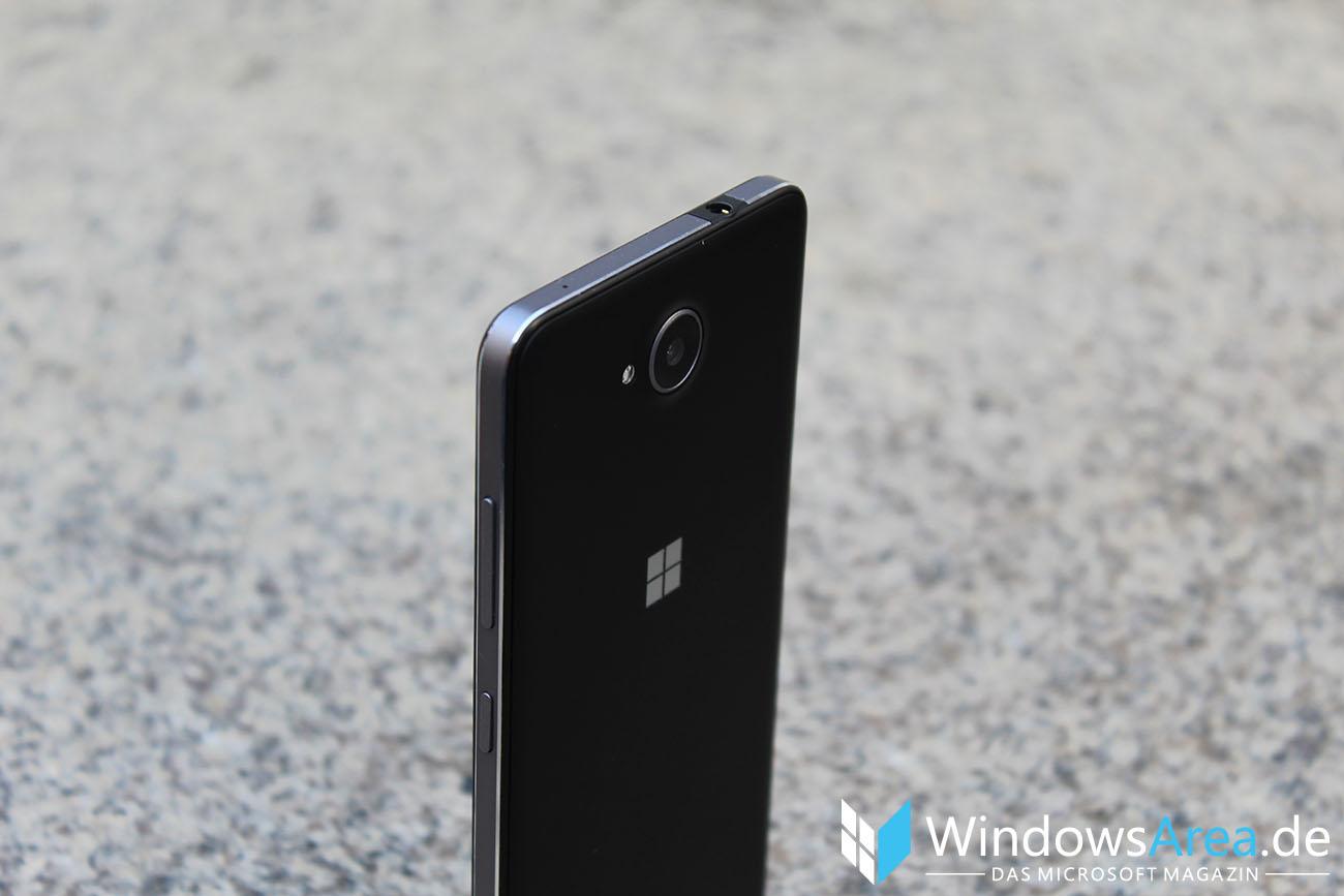 Microsoft Lumia 950 im Test Rückseite Oben