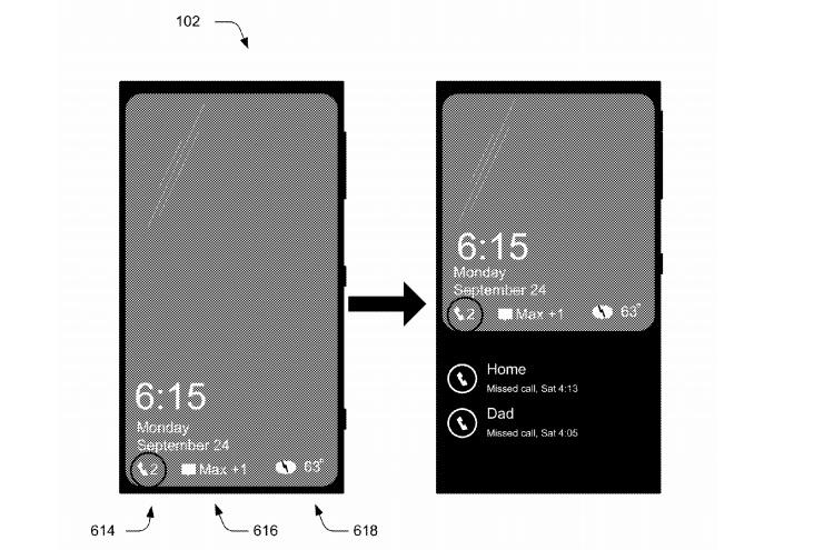 Microsoft Patent Sperrbildschirm Benachrichtigungen