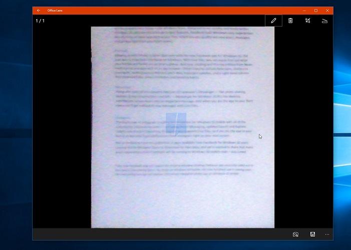 Office Lens Windows 10 Leak mspu