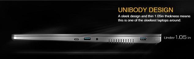 Unibody Design EVGA SC 17 Gaming Laptop