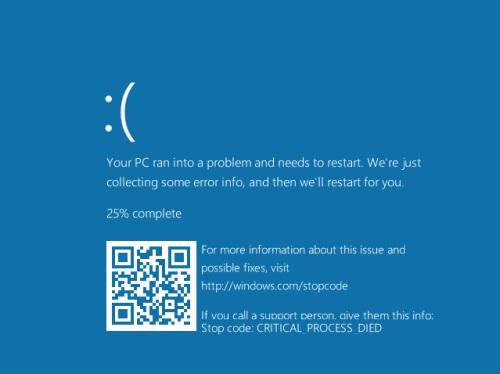 Windows 10 14316 QR Code Bluescreen