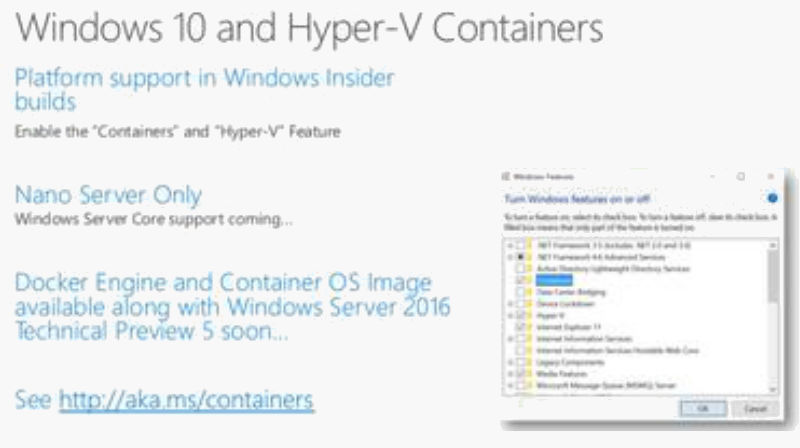 Windows 10 Hyper-V Container